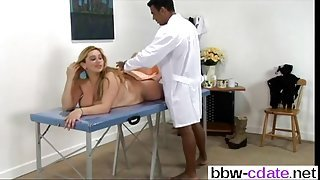 busty one on a massage table getting fucked so good