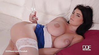 DDF Busty-Ultra Fucking Beautiful Busty vixen fucks herself senseless