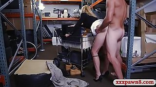 Hot milf banged in pawnshop storage room