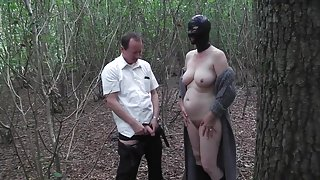 Slut Wife Hooded in Forest and Fucked 1