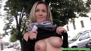 Faketitted real euro swallows a load of cum