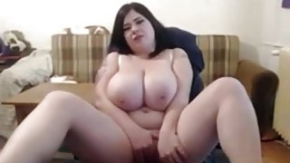Fat BBW gf with delicious Tits masturbating wet pussy