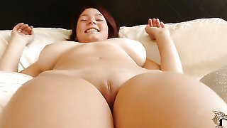 Nanny with giant jugs and trimmed muff cant stop toying her pussy