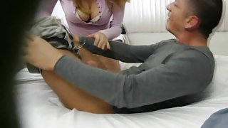Spy Camera Catches Cheating Blonde Sucking Dick
