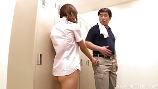 Hinano Mizuki naughty Asian schoolgirl enjoys dick ride