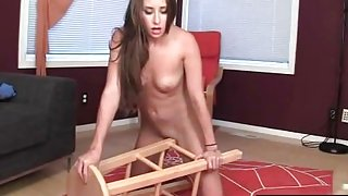 Hot Belle Humping A Chair