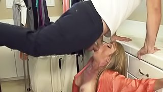 Busty stepmom gets penetrated hard