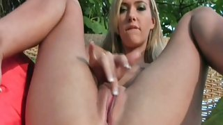 Scottish sweetheart Sophia Knight playing with her vagina
