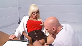 Blonde doctor is being banged wildly