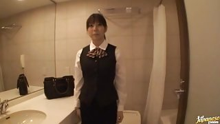 Lovely Anmi Hasegawa gets pounded in the office