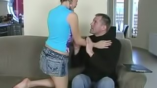 Sexy Brandy gets fucked by her teacher on a sofa