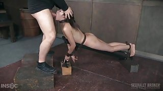 Masters roughly use their submissive sex slave