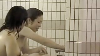 Sexy Asians showering bodies on the working spy cam