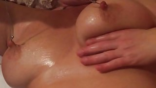 Oiled down tits and playtime!!!