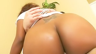 Is there any other black babe with perfect big bubble butt like Kendals one Watch delicious big ass honey Kendal ride white dick in interracial hardcore action that she really enjoys