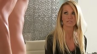 This adult movie features charming Kiara Mia. She proves that she can turn man on with ease just by kissing him. She spends time with hot guy in the candle light. They fondle each other before they fuck