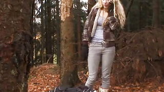 Hitchhiker fucked in the woods