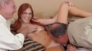 Mature redhead big nipples Frannkie And The