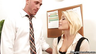 Ash Hollywood & Johnny Sins in Naughty Office