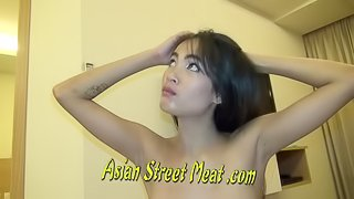 Quiet Asian Cutie SWallows Sperm