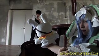 Japanese cosplay babe fucked until cumsprayed