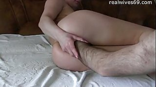 Amateur Wife playing With Both Holes on Realwives69.com